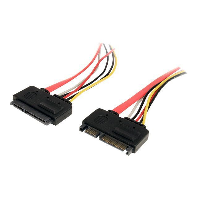 StarTech.com MCSATAF12S C/âble adaptateur dalimentation 30/cm Micro SATA vers SATA avec SATA