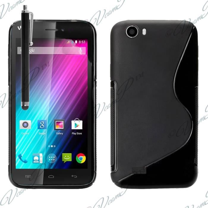 Coque silicone gel s line pour wiko lenny achat vente for Housse wiko lenny 4