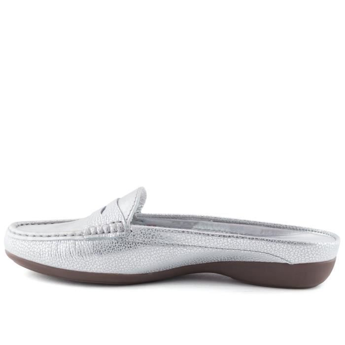 Women's Genuine Leather Made In Brazil Casual Union Mule Slip-on Marc Joseph Ny Fashion Shoes RX48B Taille-40