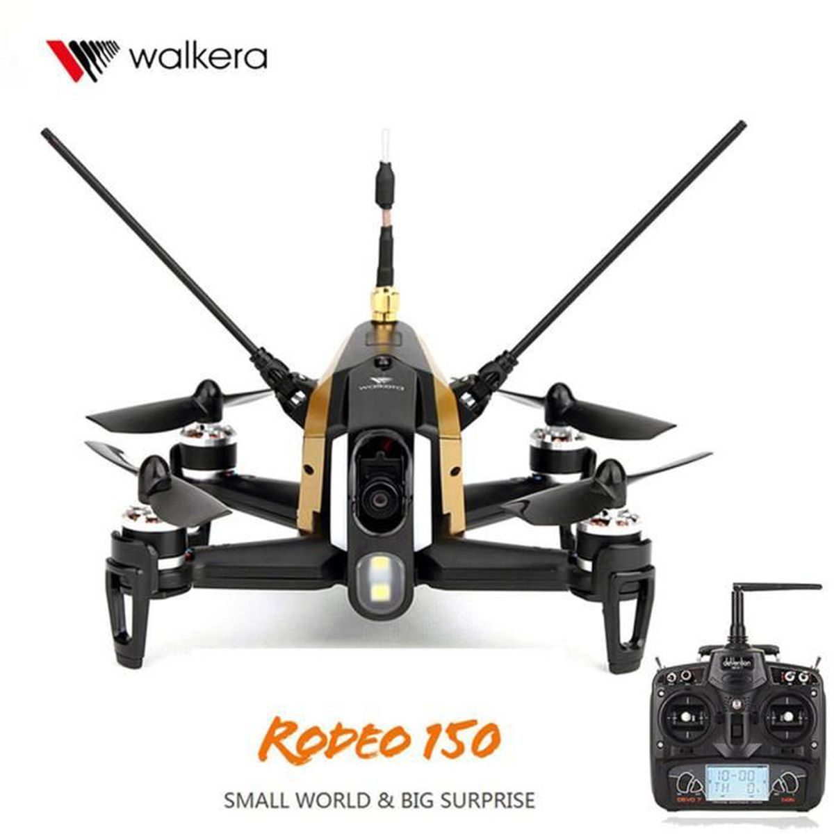 walkera rodeo 150 rc drone de course avec devo 7 600tvl cam ra rtf noir achat vente drone. Black Bedroom Furniture Sets. Home Design Ideas