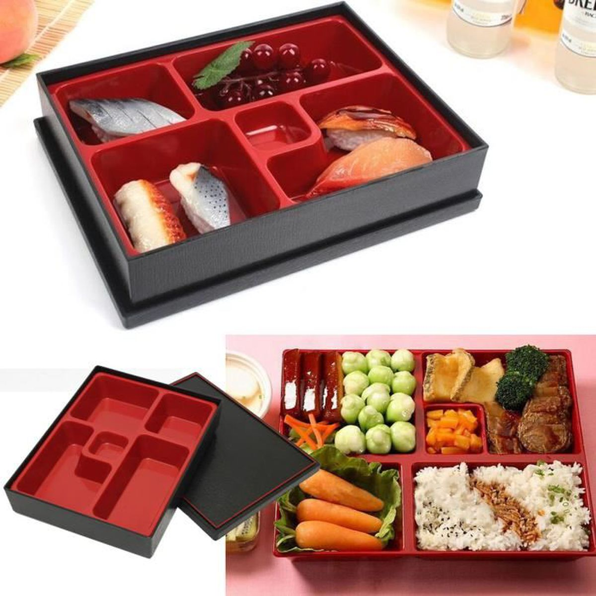 bo te repas dejeuner lunch bento box japonaise sushi lacquerware restaurant achat vente. Black Bedroom Furniture Sets. Home Design Ideas