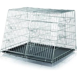 TRIXIE Double cage de transport chien 93x68x79 cm