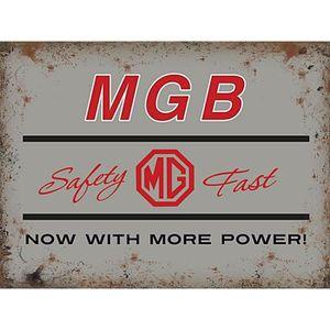 Mgb gt femme//maîtresse large acier signe 400mm x 300mm og