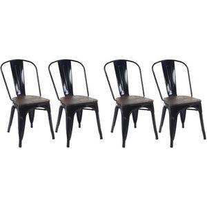 CHAISE 4 chaises de salle à manger style industriel facto