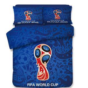 HOUSSE DE COUETTE ET TAIES FIFA WORLD CUP RUSSIA 2018 Bleu Parure de couette:
