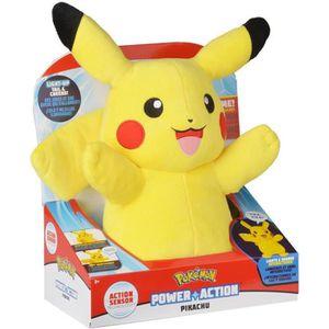 PELUCHE POKEMON Peluche Pikachu son & lumière - 30 cm