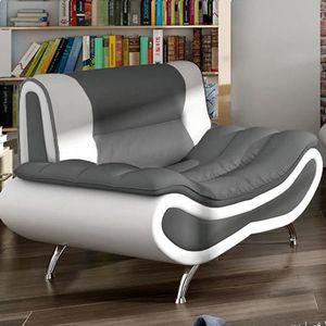 FAUTEUIL Fauteuil design ORI Gris et Blanc