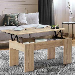 TABLE BASSE Table basse avec plateau relevable bois imitation
