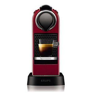 MACHINE À CAFÉ Krups Nespresso CitiZ 1L Noir, Rouge-Cafetière aut