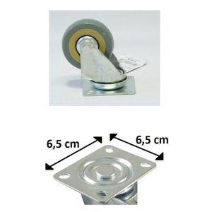 ROUE - ROULETTE Lot 4 Roulette Roue Pivotante Rotative 6cm 2,5
