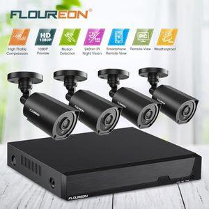 CAMÉRA DE SURVEILLANCE FLOUREON 8CH 1080N 5 IN 1 AHD HDMI DVR Vidéo+4 X H