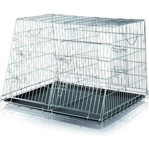 CAISSE DE TRANSPORT TRIXIE Double cage de transport chien 93x68x79 cm