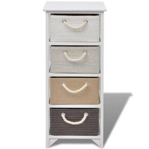 ARMOIRE DE CHAMBRE Cet armoire de rangement avec 4 tiroirs va ajouter