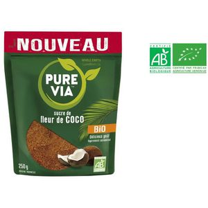 SUCRE & ÉDULCORANT PURE VIA Sucre de fleur de coco bio - 250 g