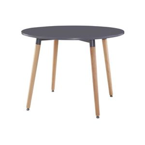 Table a manger ronde scandinave achat vente table a - Table ronde grise ...