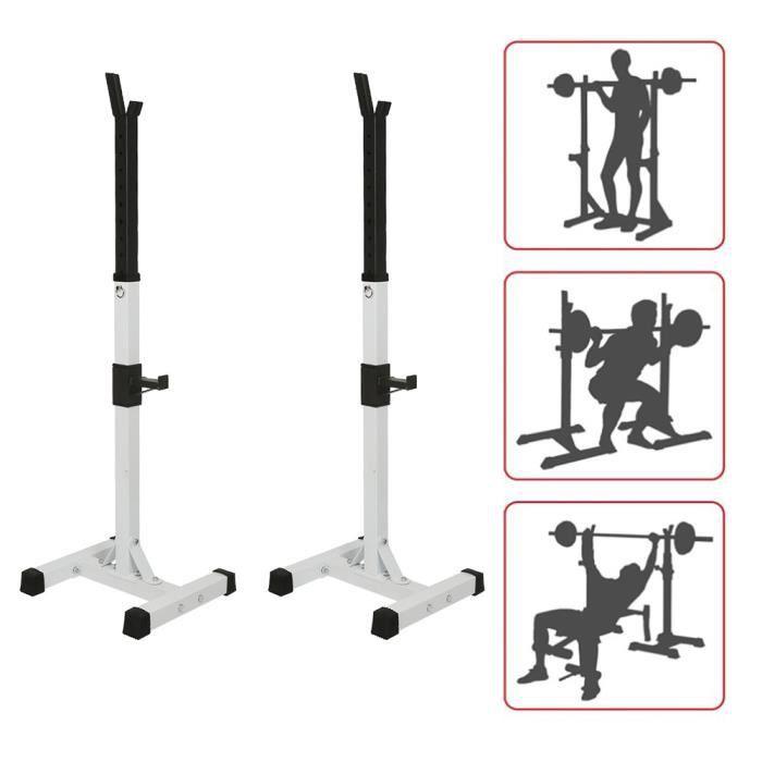 BUL Rack de Rangement pour Haltères - Charge Max 200 kg, Support d'haltères réglable Support de squat multifonction