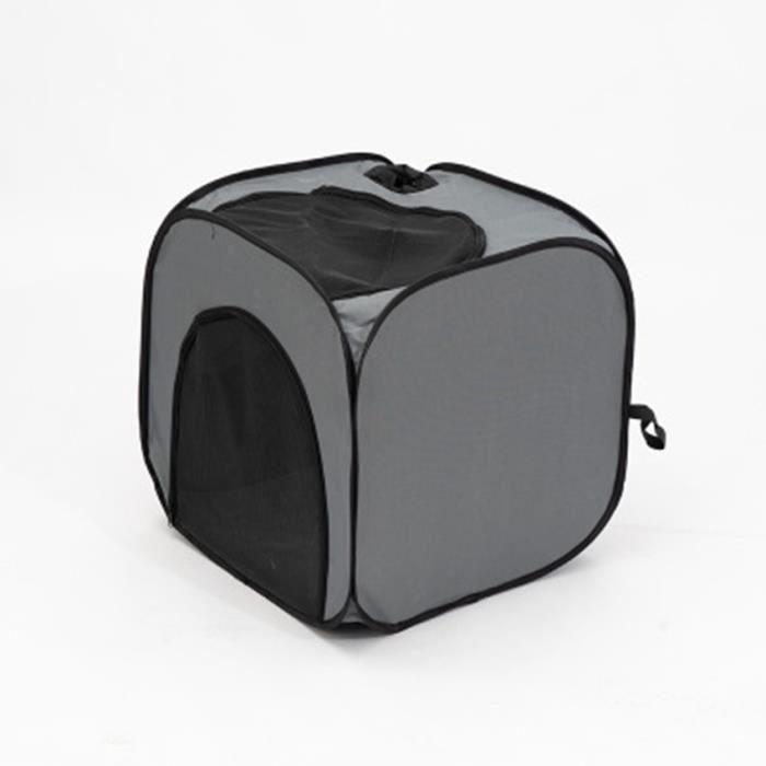 Boîte de séchage carrée grise - Boîte de séchage pour animaux de compagnie - Tente de bain pour chat et chien
