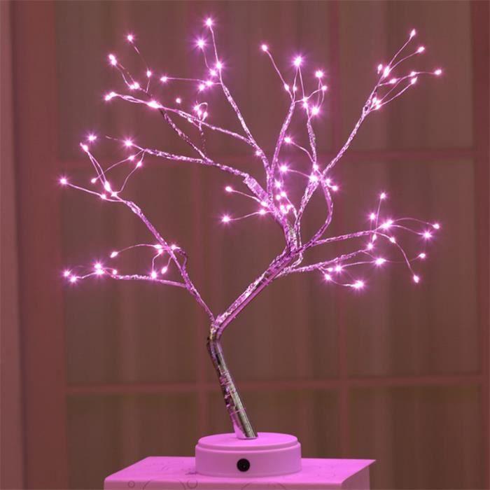 LAMPE A POSER Mixte - 108 ampoules décoration INS arbre lumière LED interrupteur tactile de lumière de Noël - Rose NH™