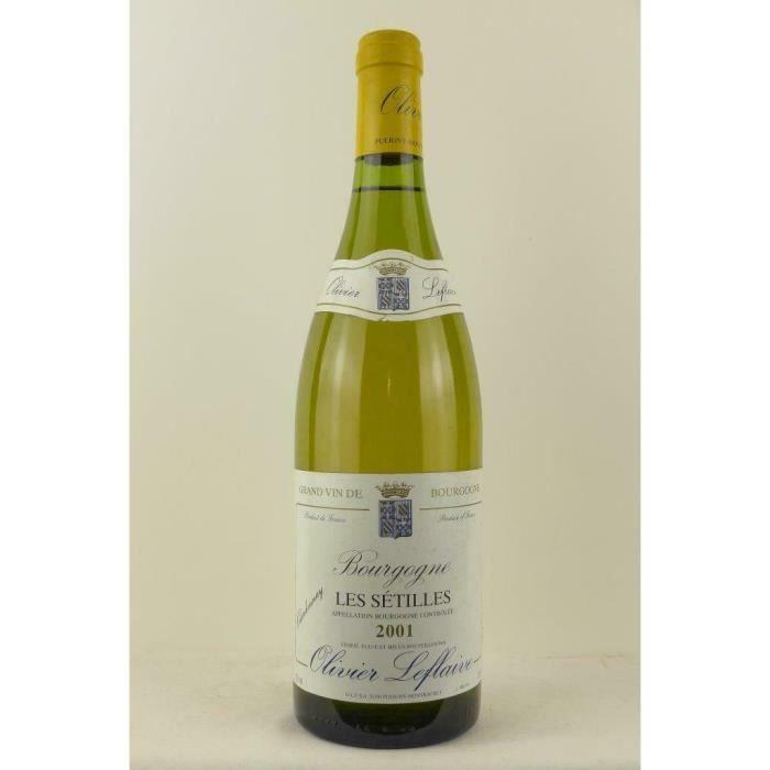 puligny-montrachet olivier leflaive les sétilles blanc 2001 - bourgogne