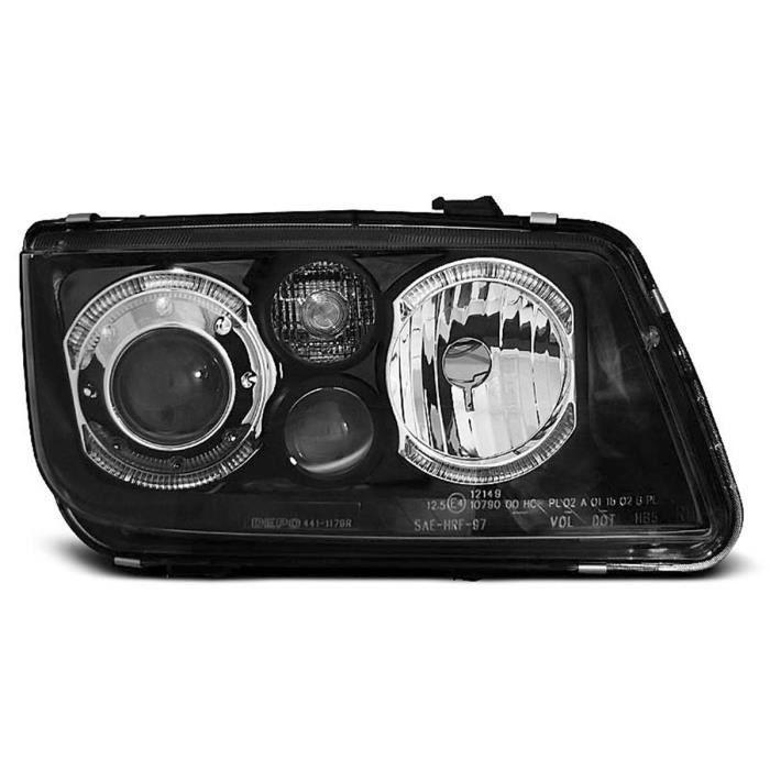 Paire de feux phares VW Bora 98-05 angel eyes noir