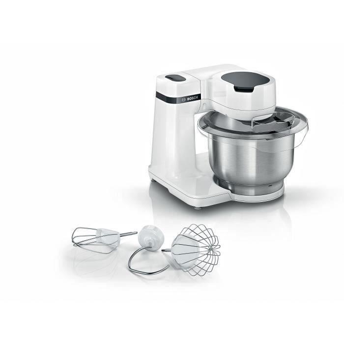 BOSCH - Kitchen machine Serie 2 - Robot de cuisine - 900W - 7 vitesses + turbo - Bol mélangeur inox 3,8 L - Noir / silver