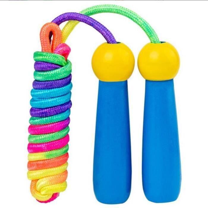 Corde à Sauter Enfants,Speed Jump Rope Réglable pour Enfants en Bois pour Fitness, Crossfit, Sport,Training Exercice Activités