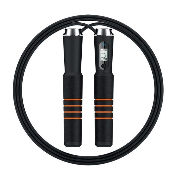 Corde à sauter Bluetooth intelligente croix Fit compteur de vitesse de calories numérique cordes à s - Modèle: Black - HSJSTSA09875