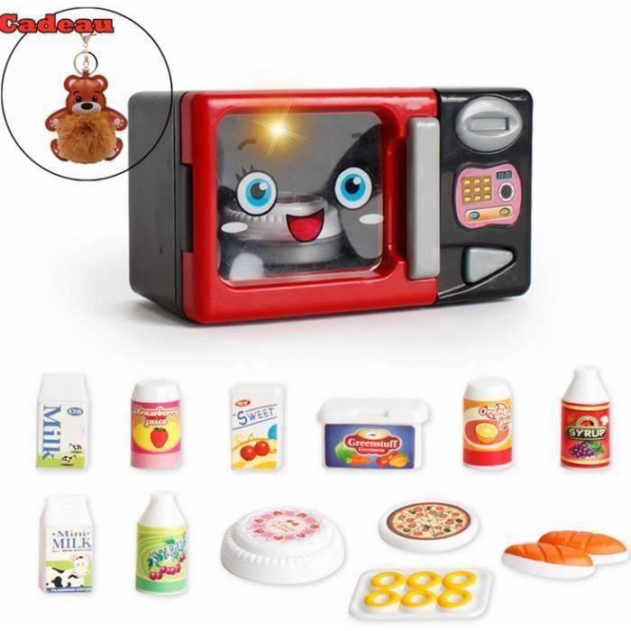 OLALI® Mini Simulation Micro-ondes Four Appareils Jouets Sons et Lumières Bébé Jouer à Faire Semblant de Cuisine Jeu De Cuisson Jo