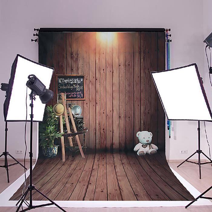 150x210CM Fond De Studio Vintage Bois Plancher Papier Peint Photographie Toile De Fond Studio Photo Accessoires So67559