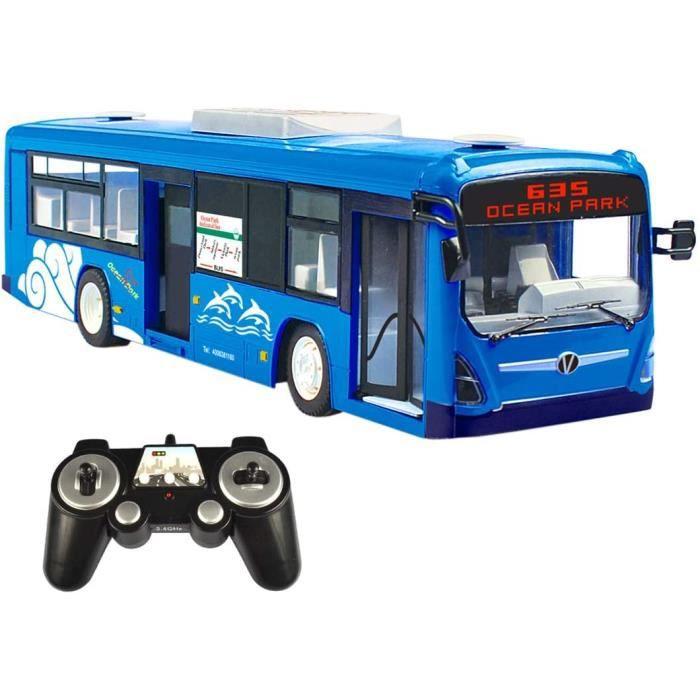 VEHICULE MINIATURE ASSEMBLE ENGIN TERRESTRE MINIATURE ASSEMBLE Seciie RC City Bus, 2.4GHz Haute Vitesse T&eacutel&eacutecomm238