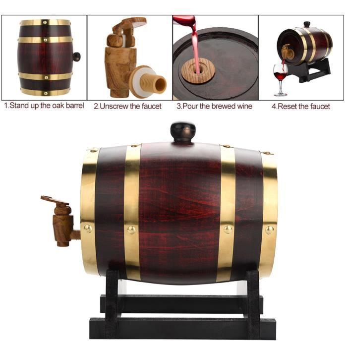 Tonneau à vin en bois -DUO