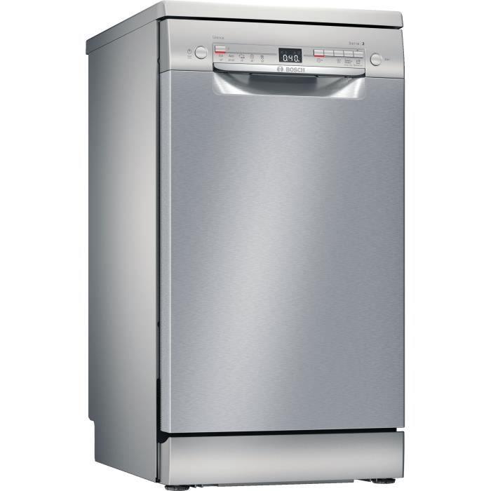 Lave-vaisselle pose libre BOSCH SRS2HKI59E Série 2 - 9 couverts - Moteur induction - L45cm - 46 dB - Inox
