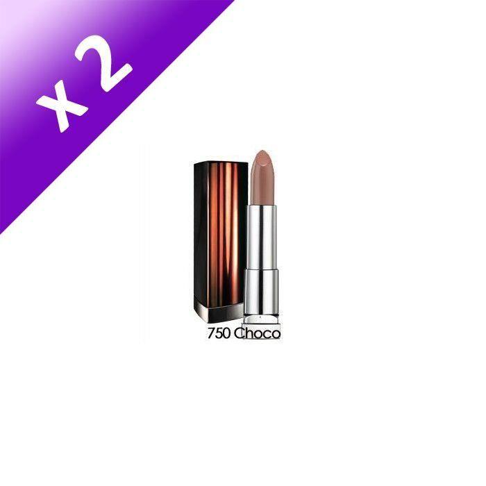 MAYBELLINE Jade Color Sensationnal Rouge à lèvres n° 750 - Choco Pop (Lot de 2)