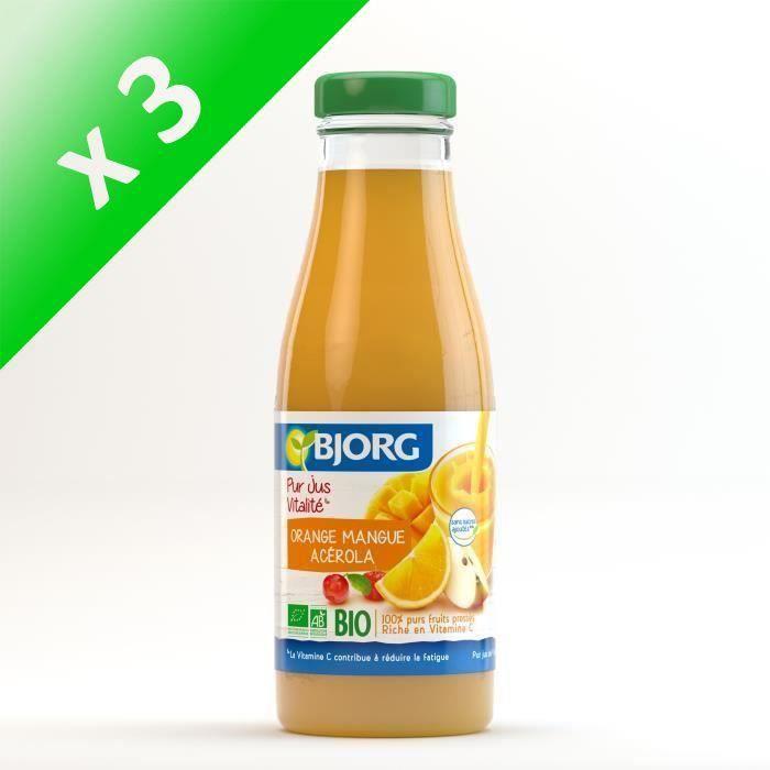 BJORG Jus Vitalité Orange Mangue Bio 75cl (Lot de 3)