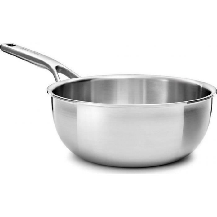 Kitchenaid Casserole - Sauteuse Sauteuse Multi plis inox conique 20cm 2.36L