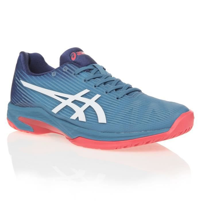 ASICS Chaussures de tennis Solution Speed FF - Homme - Bleu