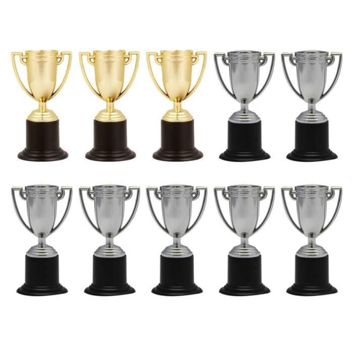 10 pièces Mini trophée durable en plastique Chic petit prix compétitions ENSEMBLE DE VETEMENTS DE FOOTBALL - TENUE DE FOOTBALL