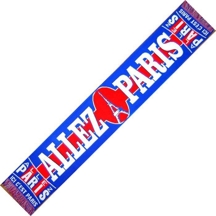 ECHARPE - ALLEZ PARIS - PSG PARIS SAINT GERMAIN No drapeau maillot fanion casquette ...