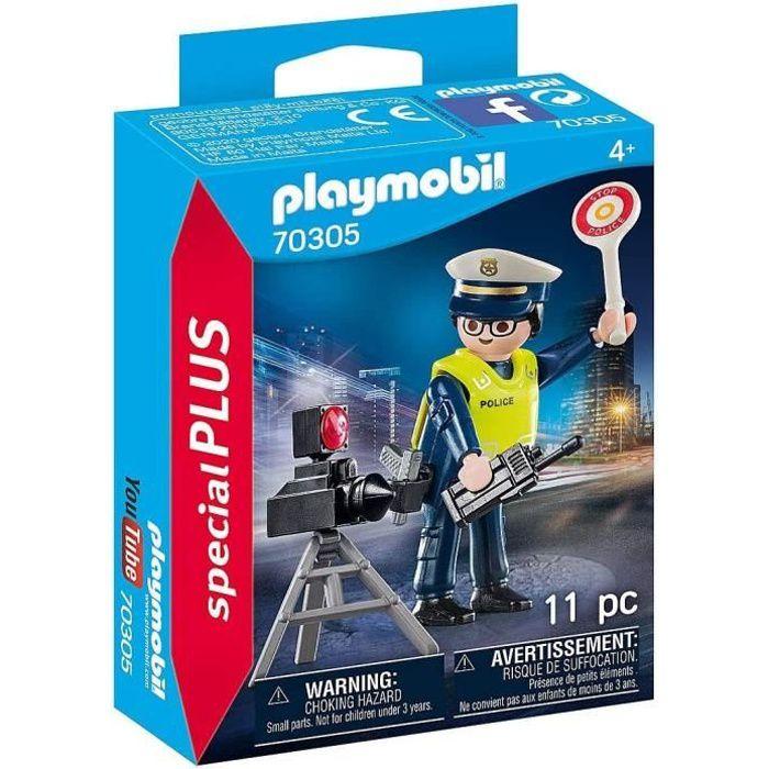 PLAYMOBIL - 70305 - Policier avec radar de vitesse