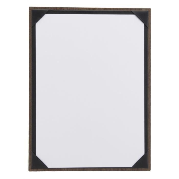 Porte-menu tablette deluxe A4 en noyer Portrait ou Paysage Bois