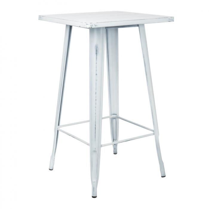 Table haute LIX Vintage Blanc Cassé