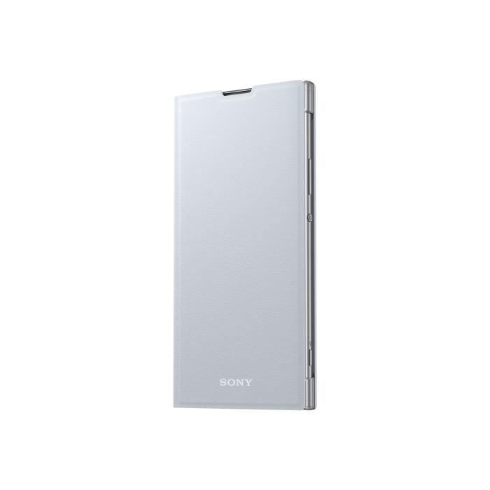 Sony Style Cover Stand SCSH20 Protection à rabat pour téléphone portable polycarbonate, cuir polyuréthane argenté(e) pour Sony…