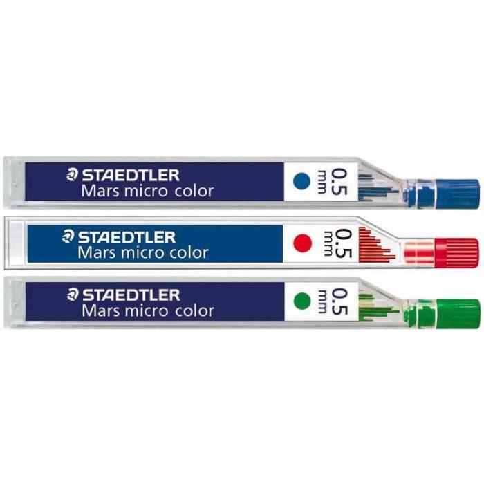 STAEDTLER Etui 12 Mines 0,5 mm Bleu