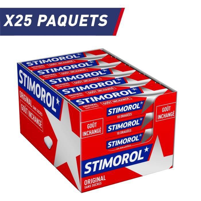 STIMOROL Original - Chewing-Gum sans Sucre avec Édulcorants - Menthe/Réglisse - Lot de 2 Packs de 25 paquets x 14 g
