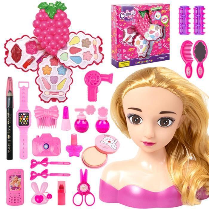 Cadeau d'anniversaire cadeau de Noël-Charlene Super Model-Tête à Coiffer et Maquiller avec Accessoires, Cheveux Blonde 04