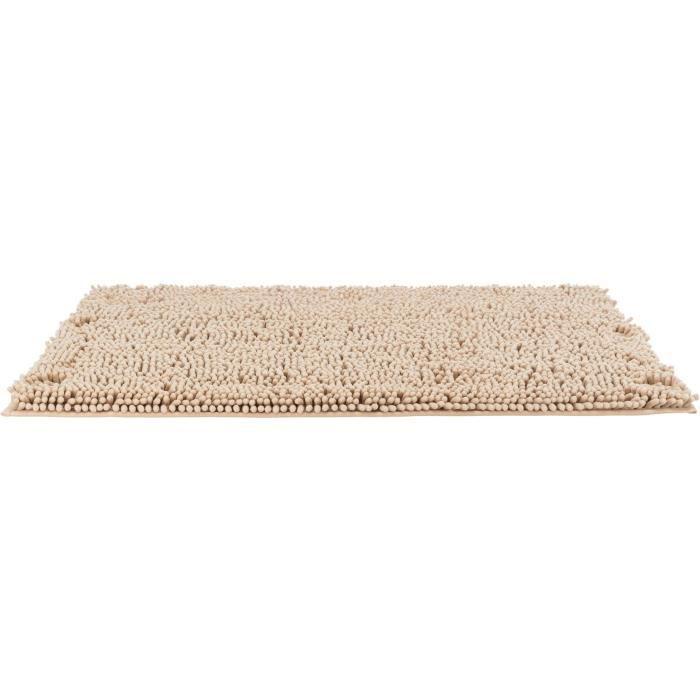 TRIXIE Tapis absorbant anti-saletés, imperméable - 60 x 50 cm - Beige - Pour chien