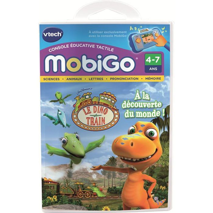 VTECH Jeu Educatif Mobigo Le Dino Train