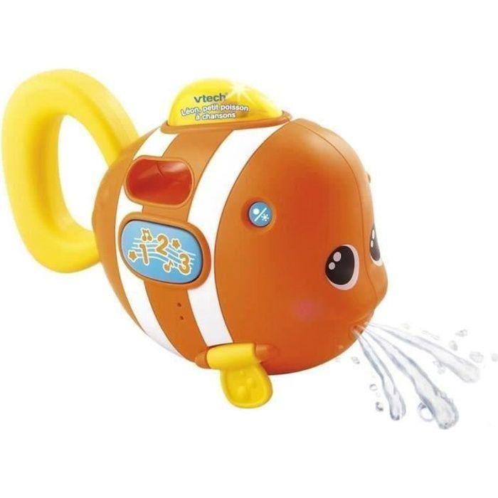 VTECH BABY - Jouet de Bain - Léon, p'tit poisson à chansons