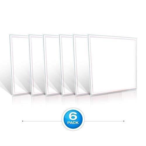 V-TAC SKU.60256 Dalle LED 600x600 45W Pack 6 VT-6060, Plastique,et Autre materiaux, 45 W, Blanc, Hauteur x Largeur x Profondeur :