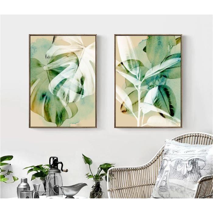 Aquarelle Scandinaves Plantes Toile Art Affiches Toile Prints Nordique Peinture Mur Photos Pour Salon Décor à La Maison